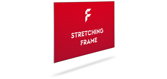 Textile stretch frames, mechanism and print