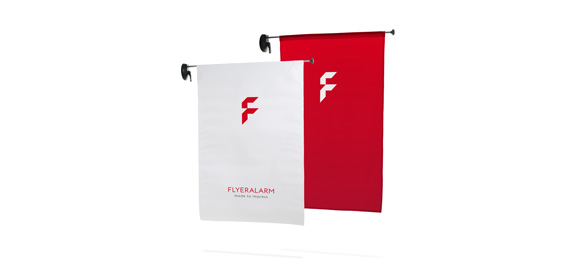 Window-Flag outdoor, System inkl. Druck