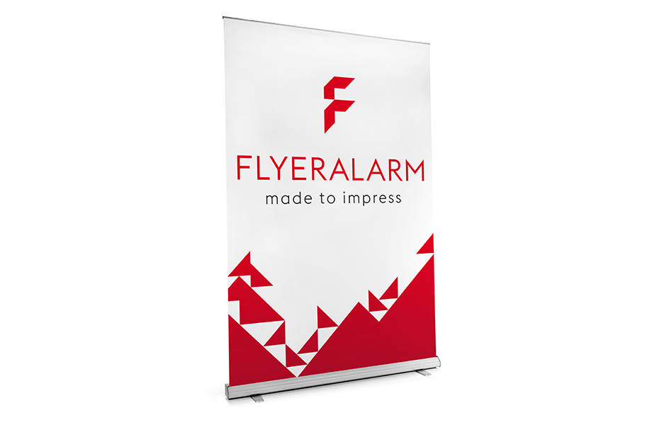 Roller banners XXL, mechanism and print