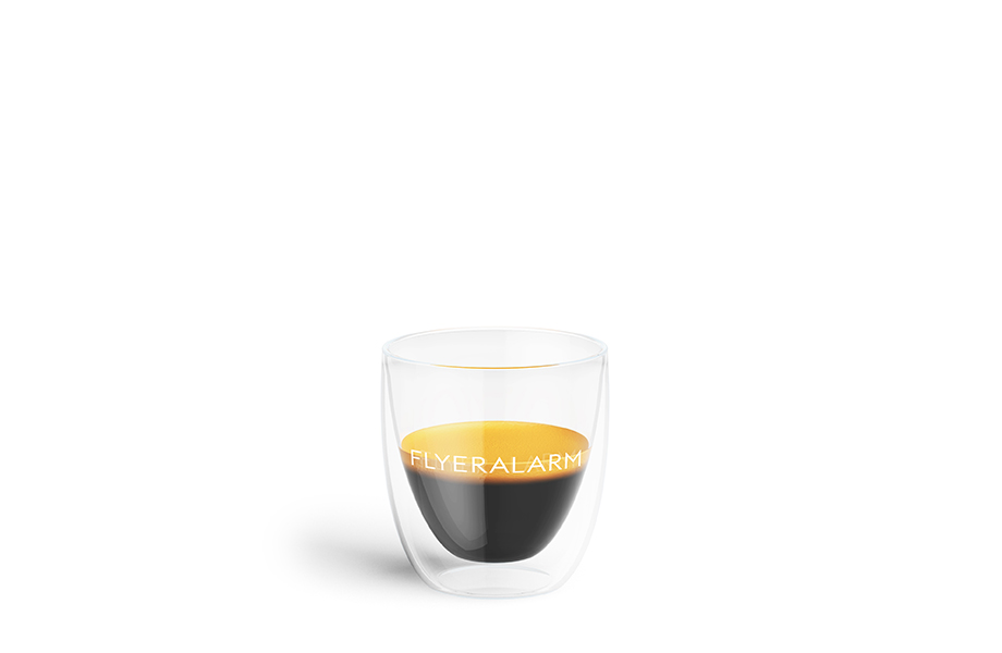 Double-walled coffee glasses