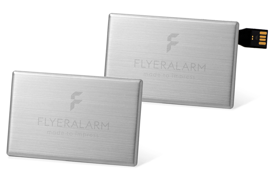 Silver USB stick cards
