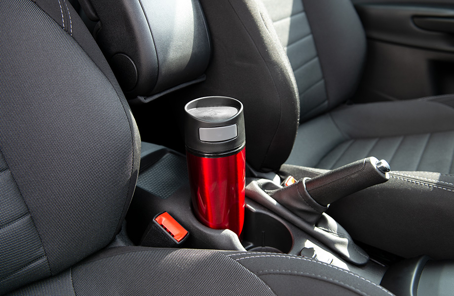 Sample car travel mug