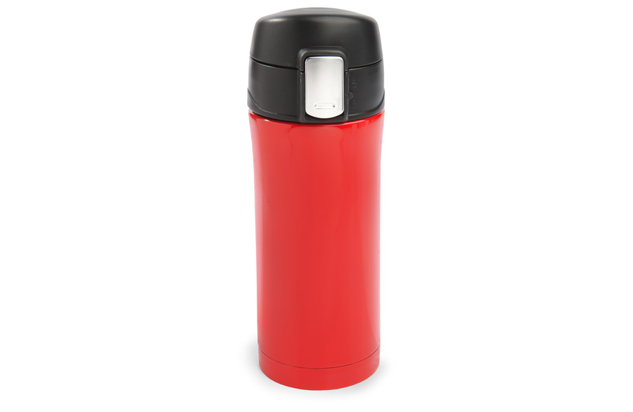 Sample travel mug with quick release cap