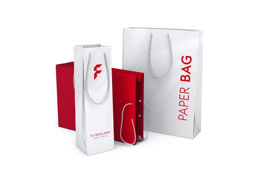 Standard paper bags, coated paper