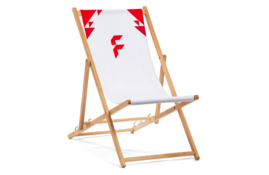 Basic deck chairs without armrest, mechanism and print