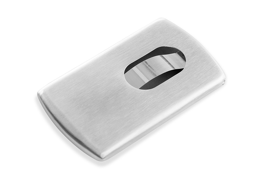 Stainless steel business card cases