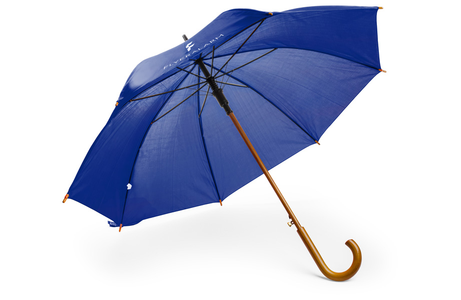 67e547adfcf1f Umbrella with curved wooden handle - low-cost and quick at FLYERALARM