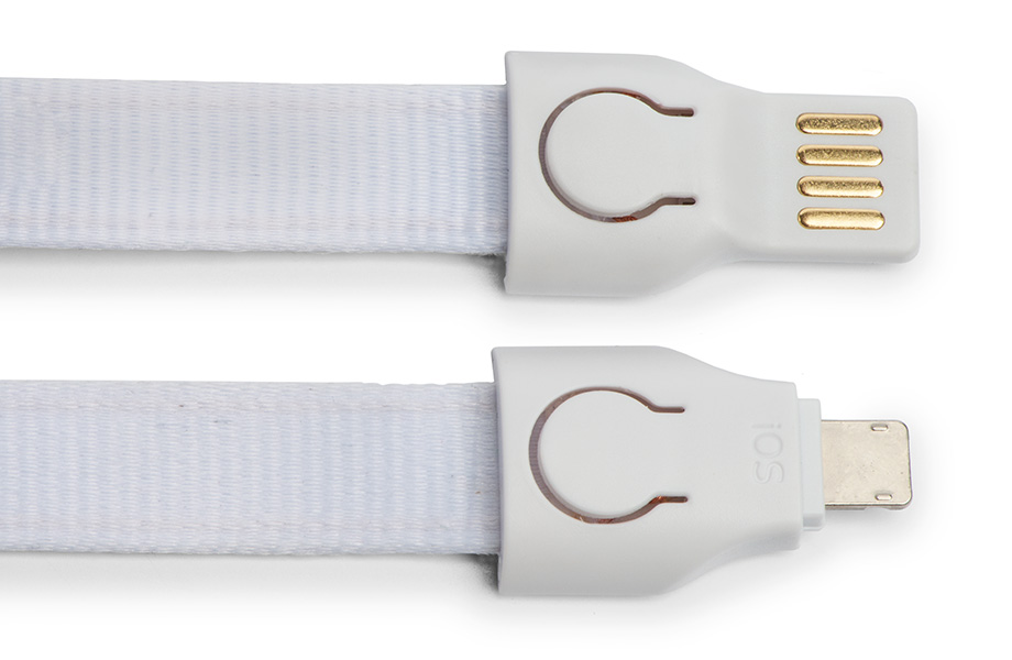 Multicharger cable lanyard