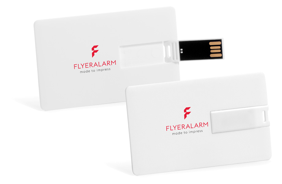 White USB stick cards