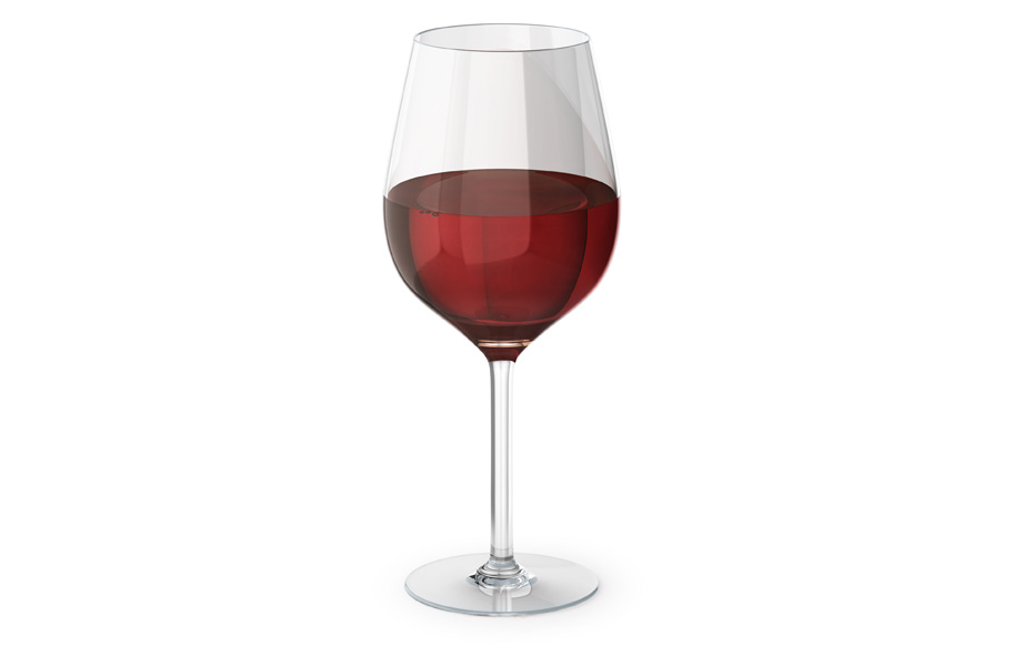 Sample red wine glass