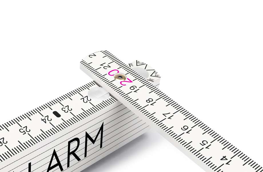 Folding wooden rulers
