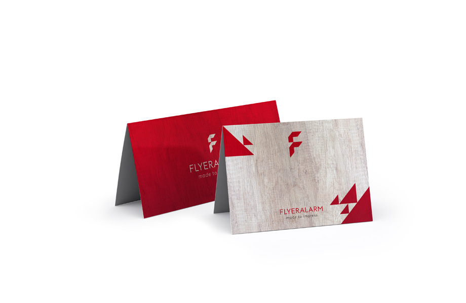 Folded leaflets, single fold
