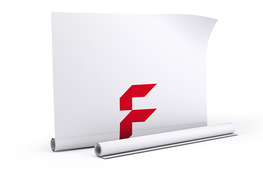 Fabric banners, single sided print, mechanism and print