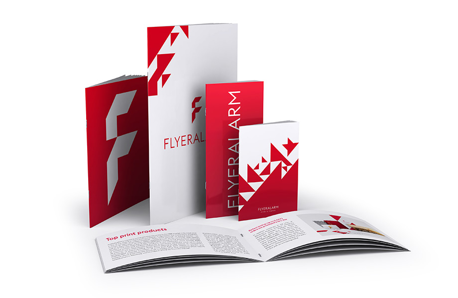 Standard brochures with staple binding
