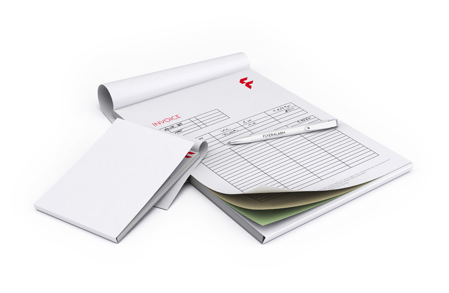 NCR triplicate set, as a pad with a sheet divider
