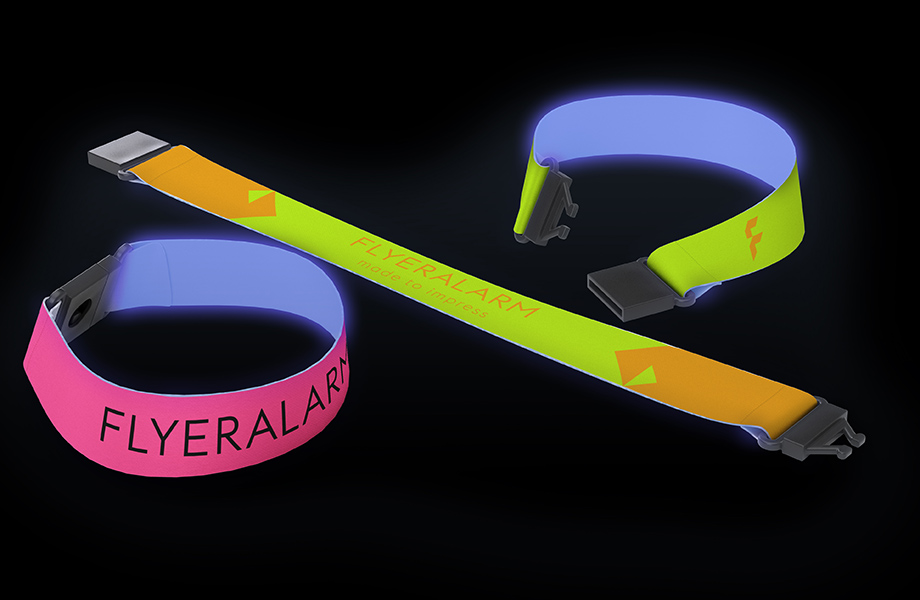 Promotional wristbands, fabric