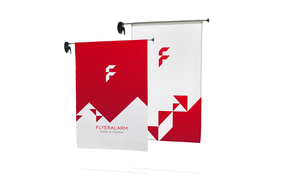 Window-flag outdoor, system z drukiem