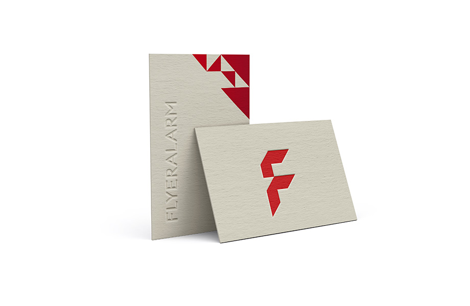 Business cards with premium finishes