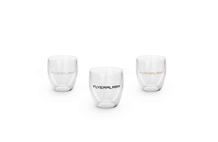 Vasos de cristal con pared doble