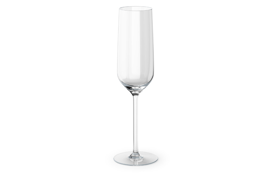 Sample champagne glass