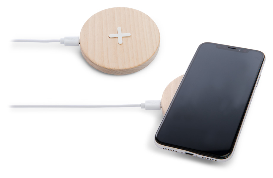 Muster Wireless Charger Holz