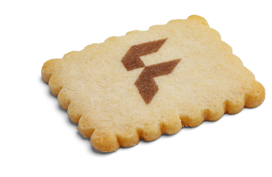 Biscuits with logo