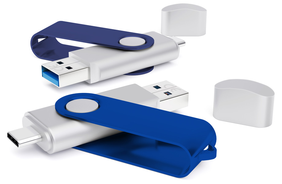 Muster 2-in-1-USB-Sticks
