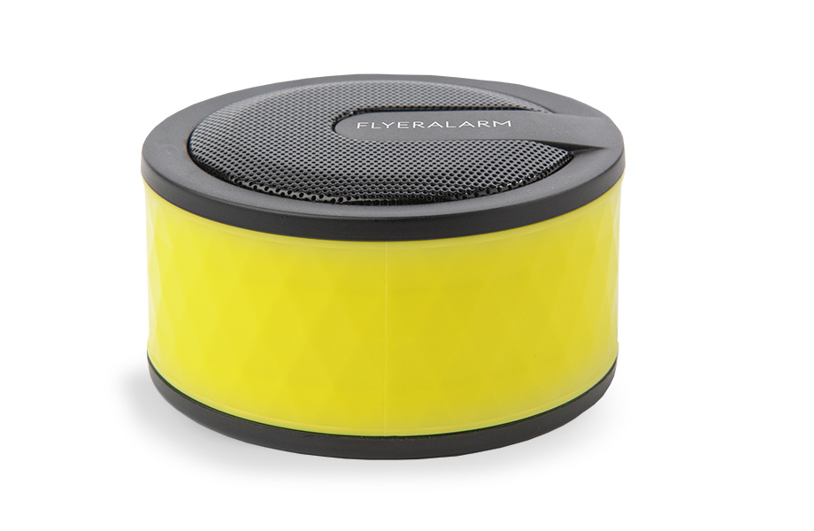 Puck-shaped mini speaker box
