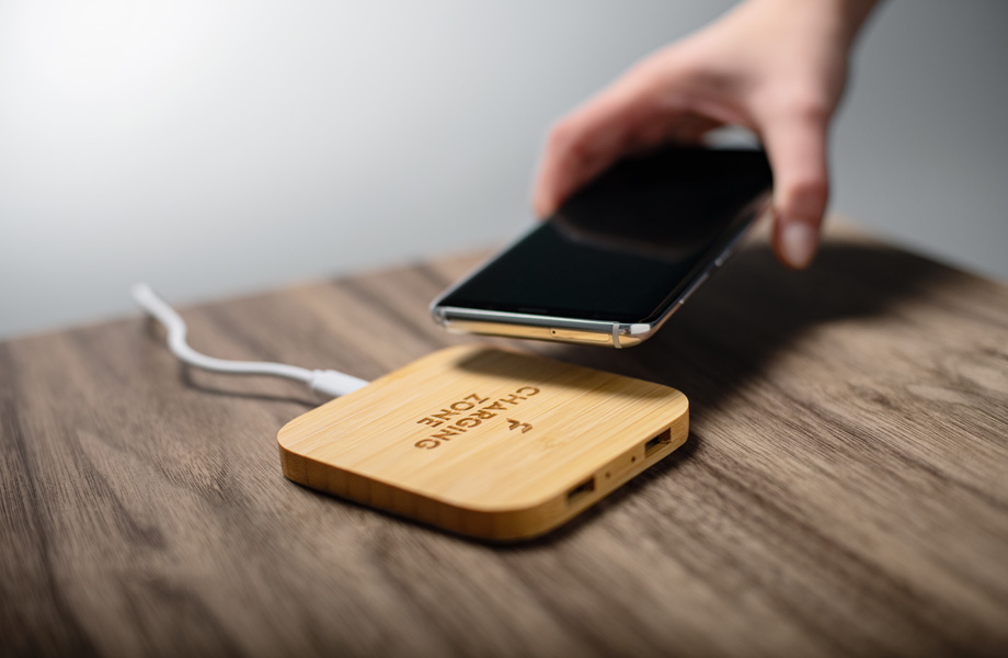 Wireless Charger Bambus