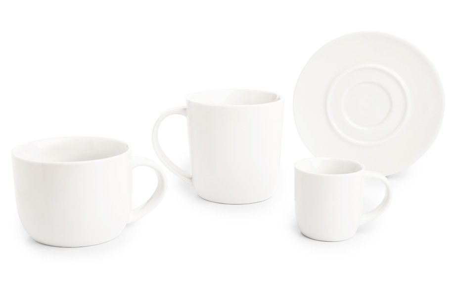 Sample cup and saucer sets