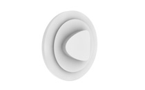 White CD clips, (self-adhesive)