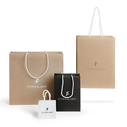Kraft paper bag, with hot-foil stamping