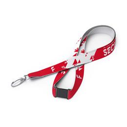 20 mm Schlüsselband aus Polyester mit Sicherheitsverschluss und Karabinerhaken