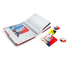 Sticker and label sample book