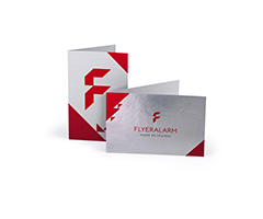 Folded business cards made from premium material