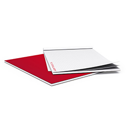 Notepads with glued cover sheet