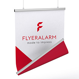 Fabric banners, double sided print, mechanism incl. print