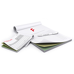 Docket triplicate sets, pad