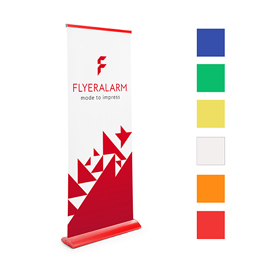Colour roller banners, mechanism and print