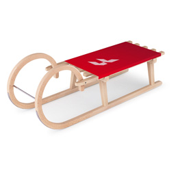 Horned sledges with printable seat