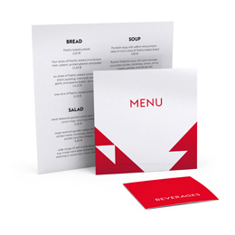 Menu cards, square