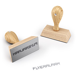 Wooden stamps incl. text plate