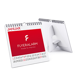 Desk calendars with spiral binding and pre-punched support