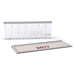 Desk calendars with wire-o-binding