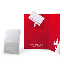 Self adhesive business card pockets