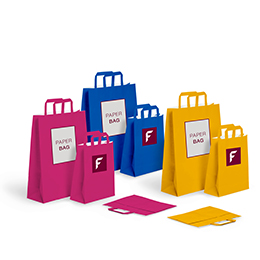 Basic paper bags with flat handle