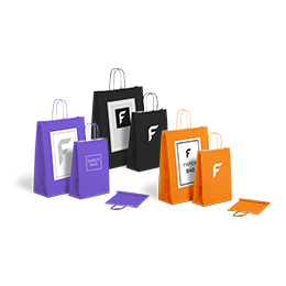 Basic paper bags with twist handle