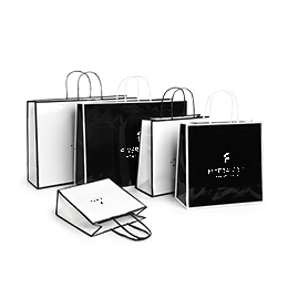 Laminated paper bags with hot-foil stamping