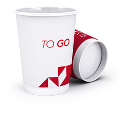 Disposable paper cups, double-walled
