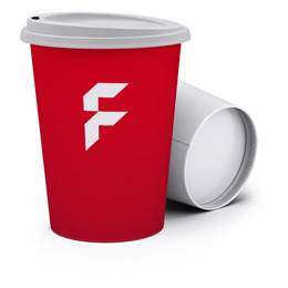 Disposable single-walled paper cups